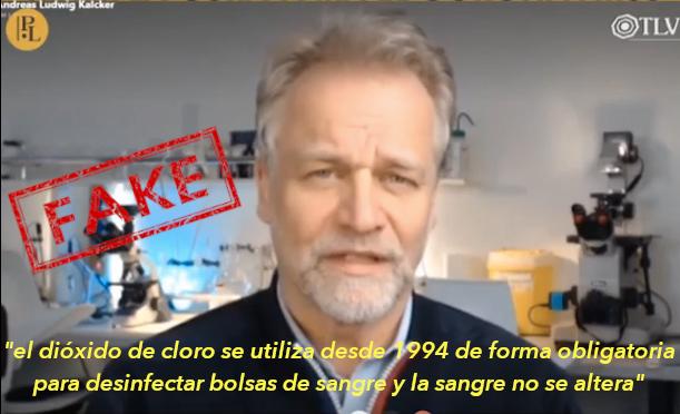 Andreas Kalcker: el dióxido de cloro se utiliza para desinfectar bolsas de sangre