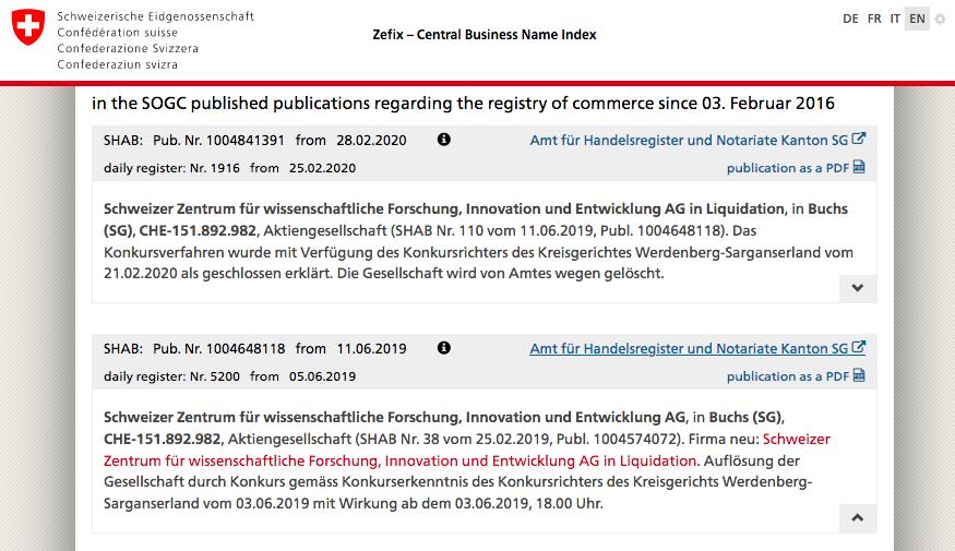 bancarrota empresa Kalcker SZWFIE 2019